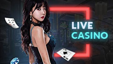 Lady with poker cards in live casino background with button to link to Rescuebet live casino page.