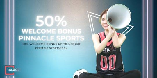 100% Pinnacle Sportsbook Welcome Bonus