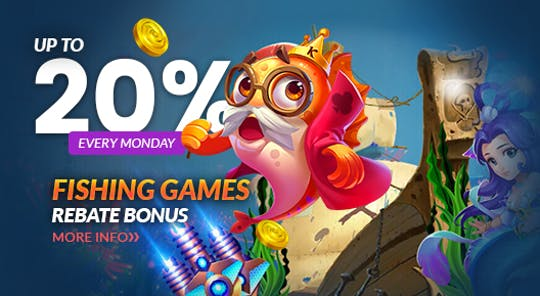 Fishing Games Up To 20% Rebate Bonus