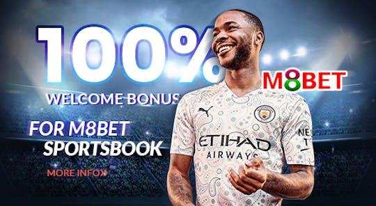 M8bet 100% Welcome Bonus