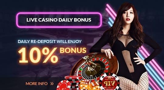 Daily Bonus Live Casino 500