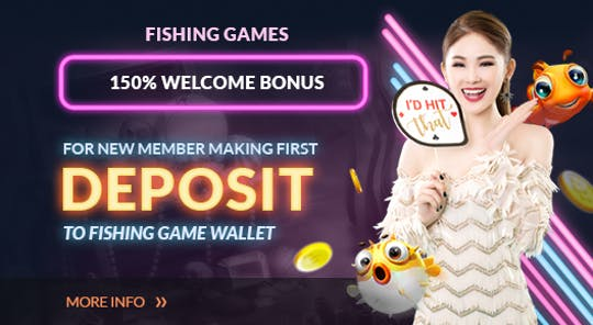Fishing Games 150% Welcome Bonus